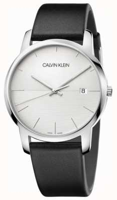 Calvin Klein Zwarte leren herenriem herenhorloge K2G2G1CD