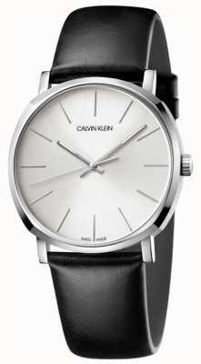 Calvin Klein Zwart lederen wijzerplaathorloge heren K8Q311C6