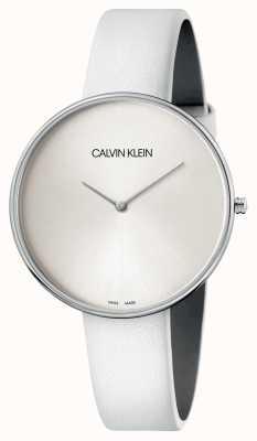 Calvin Klein Wit lederen witte wijzerplaathorloge K8Y231L6