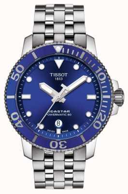 Tissot Seastar 1000 powermatic 80 blauwe wijzerplaat roestvrij staal T1204071104100