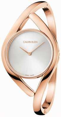 Calvin Klein Rozen en zilveren partij roestvrij stalen armband K8U2S616