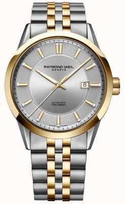 Raymond Weil Zilveren freelancer automatische tweekleurige armband zilveren wijzerplaat 2731-STP-65001