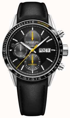 Raymond Weil Heren freelancer automatische chronograaf zwarte leren riem 7731-SC1-20121