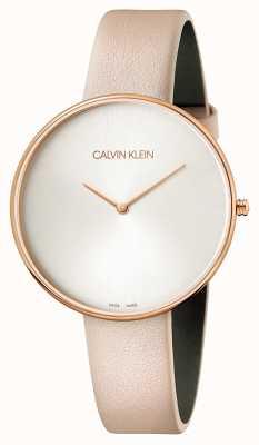 Calvin Klein Damesvollemaan roze leer K8Y236Z6