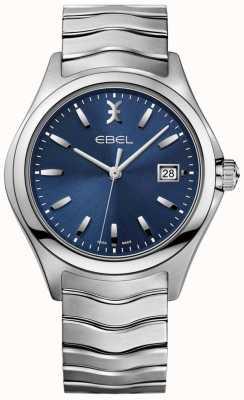 EBEL Datumweergave heren armband met blauwe wijzerplaat van roestvrij staal 1216238