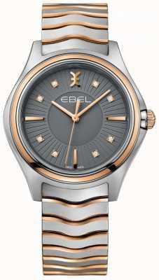 EBEL Dames diamantgolf gun metaal grijs wijzerplaat two tone armband 1216309