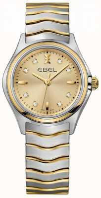 EBEL Diamanten champagne voor vrouwen, tweekleurig geel goud en zilver 1216317
