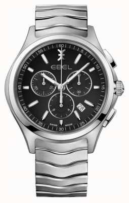 EBEL Heren chronograaf zwarte wijzerplaat in roestvrij staal 1216342