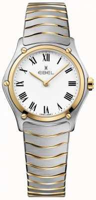 EBEL Dames sport klassiek witte wijzerplaat tweekleurige armband roestvrij 1216387