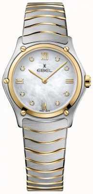 EBEL Dames sport klassieke diamant parelmoer dial two tone 1216388A