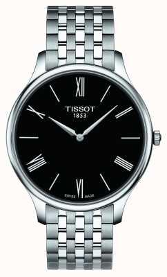 Tissot Herenradiator roestvrij stalen armband zwarte wijzerplaat T0634091105800