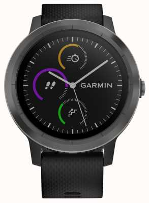 Garmin Vivoactive 3 uur multisport tracker zwart rubberen zwarte rand 010-01769-10