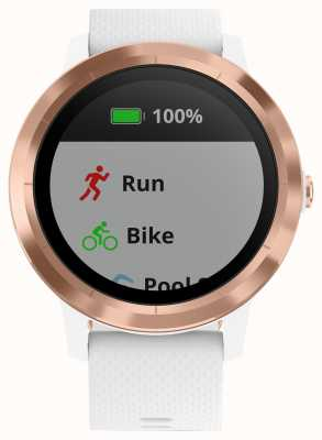 Garmin Vivoactive 3 uur multisport tracker wit rubber rose goud 010-01769-05