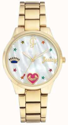 Juicy Couture (geen doos) dames goudkleurig stalen armbandhorloge JC-1016MPGB