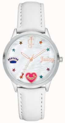 Juicy Couture Dames wit silcone bandhorloge met gekleurde markers JC-1019WTWT