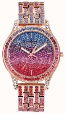 Juicy Couture Dameshorloge met rosé goudkleurige stalen armband JC-1044MTRG