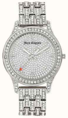 Juicy Couture Womens zilverkleurige roestvrijstalen armband JC-1045PVSV