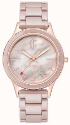Juicy Couture Dameshorloge van geplateerd stalen armband JC-1048TPRG