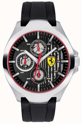 Scuderia Ferrari Zwart chronograaf wijzerplaat zwart rubberen band heren 0830510