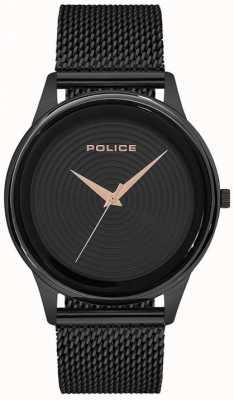 Police Slimme stijl zwart mesh armband heren zwarte wijzerplaat PL.15524JSB/02MM