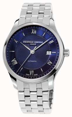 Frederique Constant Heren armband met blauwe wijzerplaat FC-303MN5B6B