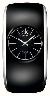 Calvin Klein Gloss vrouwen allemaal zwart horloge K6093101