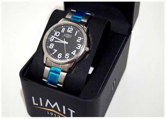Limit | heren | zwarte wijzerplaat | roestvrij stalen armband | 5648