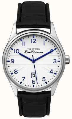 Ben Sherman Mens mat blauwe wijzerplaat zilveren gun two tone armband BS017B