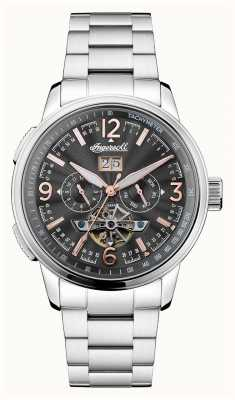 Ingersoll Mens de Regent automatische zwarte chronograaf roestvrij staal I00304