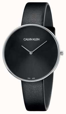 Calvin Klein Zwarte wijzerplaat damesleer zwart K8Y231C1
