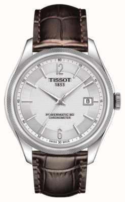 Tissot Ballade powermatic 80 cosc chronometer bruin lederen band T1084081603700