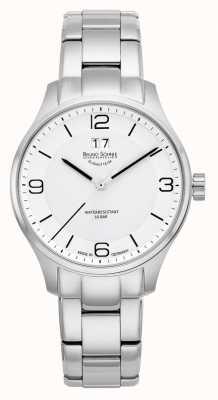 Bruno Sohnle Heren padua 42mm quartz witte wijzerplaat roestvrij stalen armband 17-13199-962