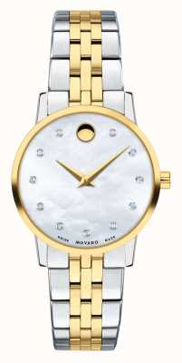 Movado Womens museum two tone roestvrij staal 0607208