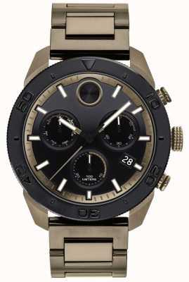 Movado Strikte ip-plated sport-chronograaf met sportring voor heren 3600513