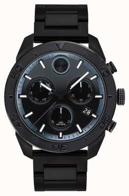 Movado Mens bold black ip plated sports chronograph 3600514