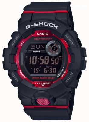 Casio G-squadron zwart / rood digitale bluetooth step-tracker GBD-800-1ER