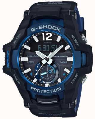 Casio G-shock zwaartekrachtmaster bluetooth solar zwart / blauw rubber GR-B100-1A2ER