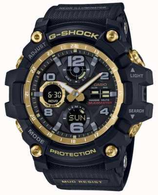 Casio G-Shock radiogestuurde zwartgouden rubberen band GWG-100GB-1AER