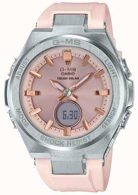 Casio G-ms baby-g stoere solar roze rubberen band MSG-S200-4AER