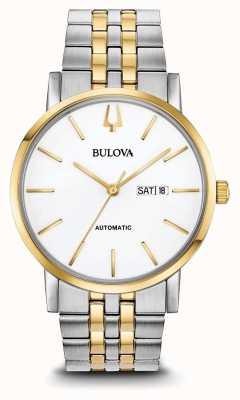 Bulova Klassiek automatisch tweekleurig horloge voor heren 98C130