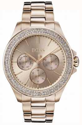 Boss Dames première kristal gezet vergulde armband 1502443