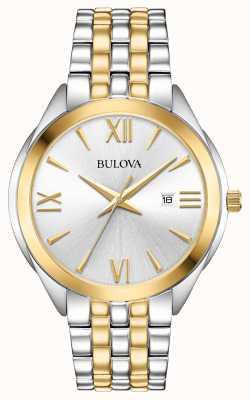 Bulova Heren two tone roestvrij stalen horloge 98B331