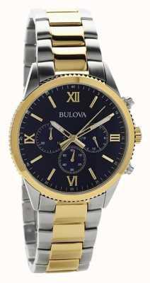 Bulova Dameshorloge met tweekleurige chronograaf 98A220