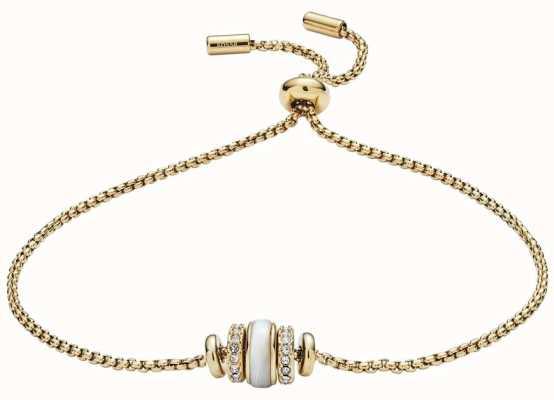 Fossil Womens goudkleurige shell bead armband JF02956710