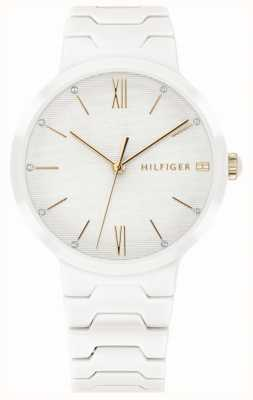 Tommy Hilfiger Dames witte keramische armband avery horloge 1781956