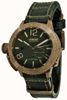 U-Boat Doppio tempo 46 bronzo gr automatische groene lederen band 9088