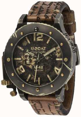 U-Boat U-42 unicum vintage look automatische bruine lederen band 8188