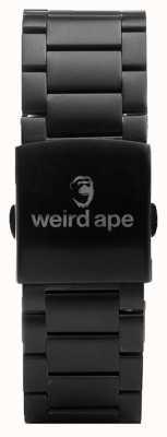 Weird Ape Zwarte schakel 20mm armband ST01-000002