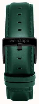 Weird Ape Donkere wintertaling lederen 20 mm riem zwarte gesp ST01-000075