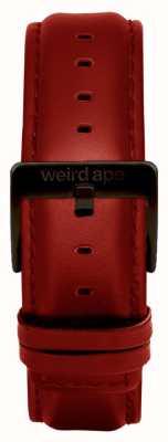 Weird Ape Rood lederen 20 mm riem zwarte gesp ST01-000077